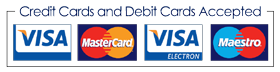 Credit Cards and Debit Cards Accepted